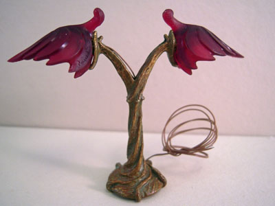 Jim Pounder Handcrafted Quail Top Desk Lamp 1:12 scale