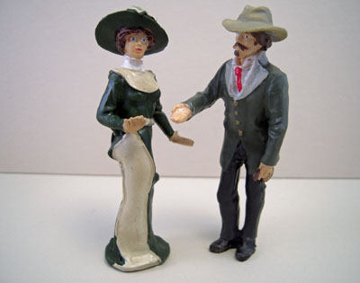 Just Plain Folk Poly-Resin Lady and Gent 1:24 scale