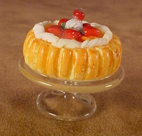 Strawberry Bundt Cake On A Stand 1:12 scale