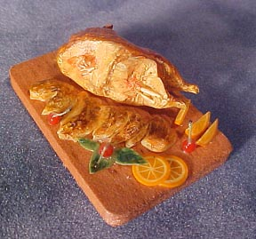 Sliced Duck On A Board 1:12 scale
