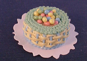 Bright deLights Easter Egg Basket Cake 1:12 scale