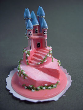 Bright deLights Pink Castle Cake 1:12 scale