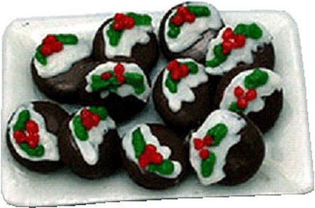 Bright deLights Christmas Cookies On A Ceramic Tray 1:12