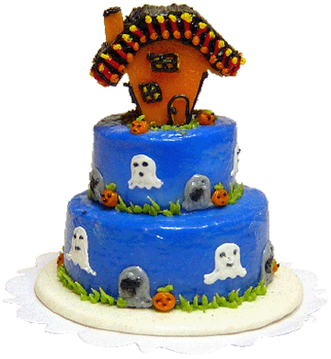 Bright deLights Halloween Ghostly Haunt Three Tier Cake 1:12 scale