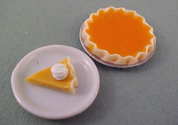 Pumpkin Pie With A Slice 1:12 scale