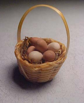 Basket Of Eggs 1:12 scale