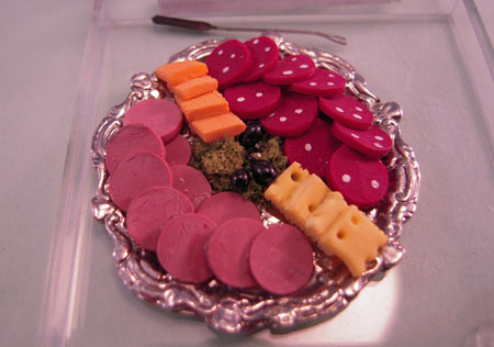 Handcrafted Deli Platter 1:12 scale