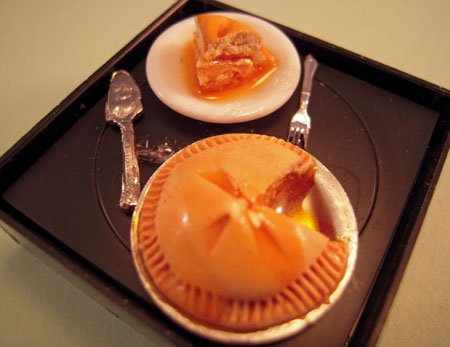 Peach Pie With A Slice 1:12 scale
