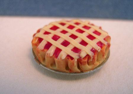 Bright deLights Lattice Crust Cherry Pie 1:24 scale