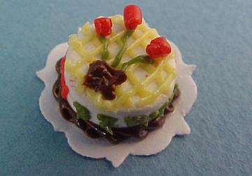 Miniature Birthday Cake 1:24 scale