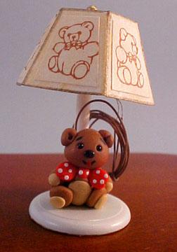 Teddy Bear Nursery Lamp 1:12 scale