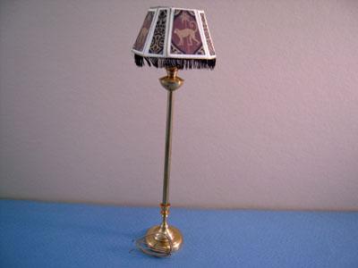 Miniscules Miniature Animal Print with Fringe Floor Lamp 1:12 scale