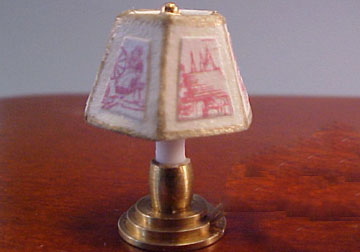 Miniscules Miniature Non-Working Rose Candlestick Base Table Lamp 1:24 scale