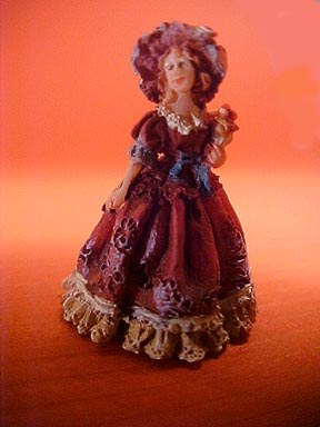 J Kendall Lady In Red Statue 1:12 scale