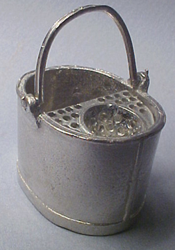 Pewter Mop Bucket 1:12 scale