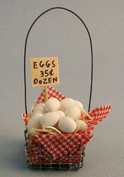 Lorraine Heller Handcrafted Miniature Egg Crate 1:12 scale