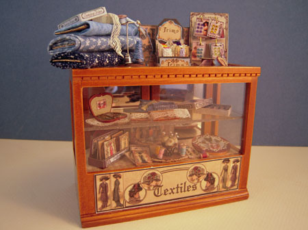 Loretta Kasza Handcrafted Filled Sewing Cabinet 1:12 scale