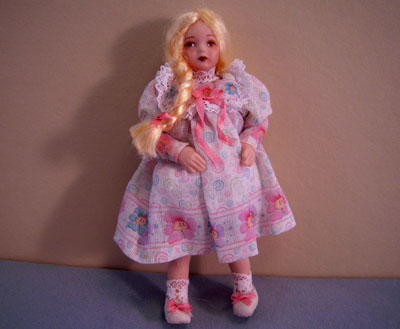 Loretta Kasza Handcrafted Candy Porcelain Doll 1:12 scale