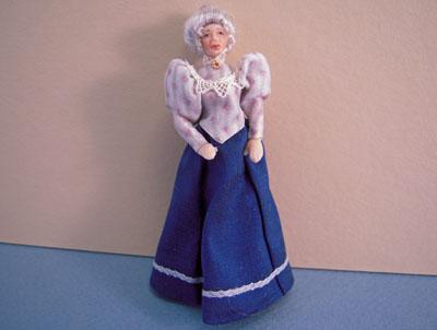 Loretta Kasza Handcrafted Grandma Maria In Blue 1:24 scale