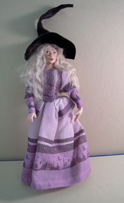 Loretta Kasza Handcrafted Porcelain Doll Hannah The Witch 1:12 scale