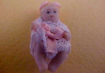 Dolls By Patsy Porcelain Baby Jenny Doll 1:24 scale