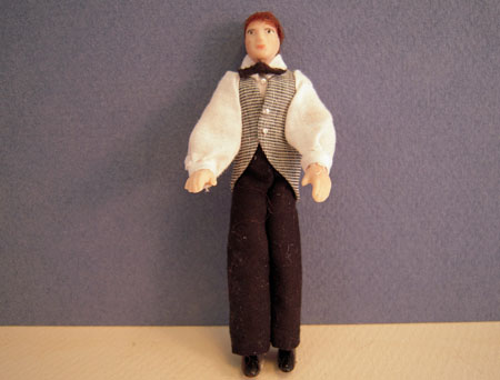Dolls By Patsy Porcelain Harry In A Vest and Tie 1:24 scale