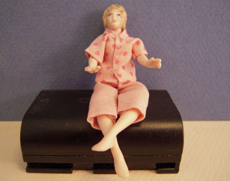 Dolls By Patsy Porcelain Camilla In Capris Sitting 1:24 scale