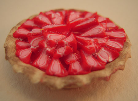 Hand Crafted Strawberry Pie 1:12 scale