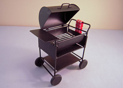 Bar B Que Grill with Towel 1:12 scale