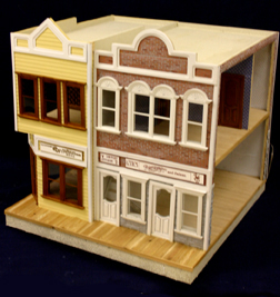 Majestic Mansions Main Street Shoppe Dollhouse Kit 1:12 scale