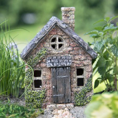 Fairy Garden Mini Bucklin Cottage Resin Fairy Garden House 1:12 scale