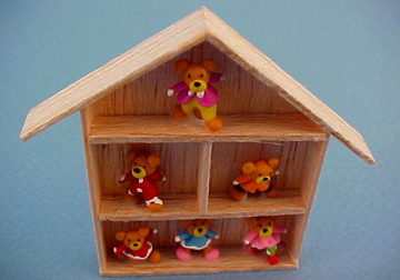 Bright deLights Teddy Bear Collection Shadow Box 1:12 scale