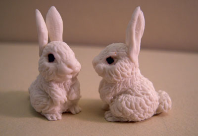 Bright deLights Pair Of White Bunnies 1:12 scale