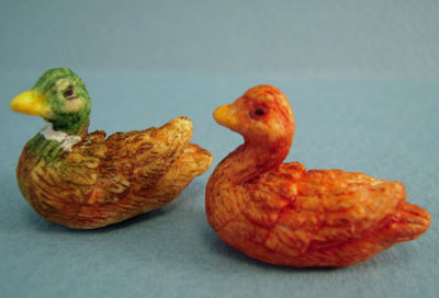 Bright deLights Set Of Two Wild Ducks 1:12 scale