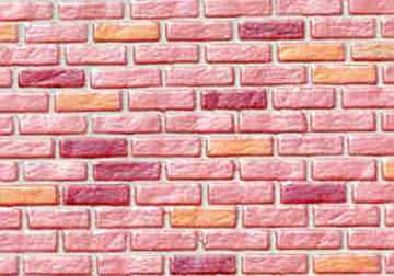 Farmhouse Red Rough Brick Sheet 1:12 scale