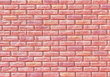 Georgian Brown Rough Brick 1:12 scale