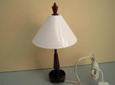 Miniature Contemporary Tiffany Dark Bronze Table Lamp 1:12 scale
