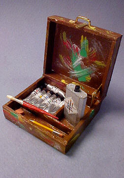 Filled Painter's Box 1:12 scale