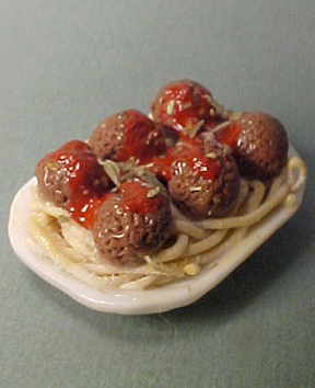 Spaghetti and Meat Ball Platter 1:12 scale