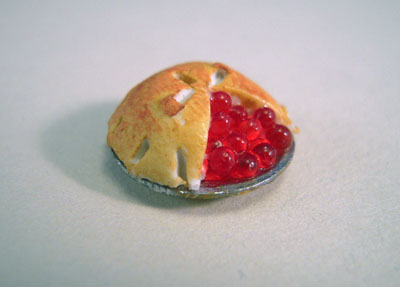 Handcrafted Cherry Pie 1:24 scale