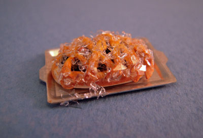 My Minis Miniature Blueberry Strudel On A Baking Sheet 1:24 scale
