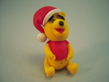 My Minis Handcrafted Winnie The Pooh With A Hat Figurine 1:12 scale
