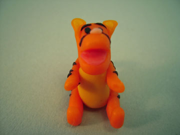 My Minis Handcrafted Tigger Figurine 1:12 scale