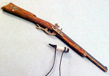 Handcrafted Hawkins Flintlock Rifle 1:12 scale