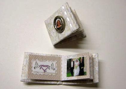 Handcrafted Wedding Album/Scrapbook 1:12 scale