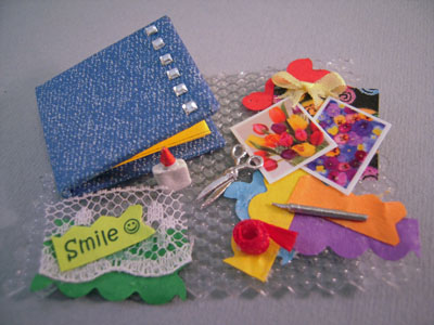Handcrafted Scrap Booking Set 1:12 scale
