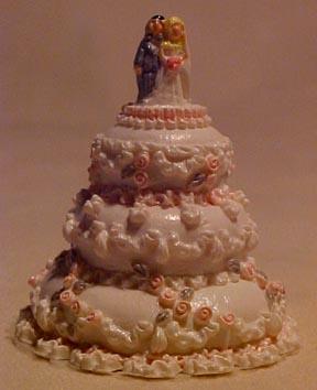 Lavish Three Tier Wedding Cake 1:12 scale