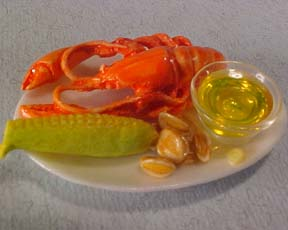 Lobster Platter 1:12 scale