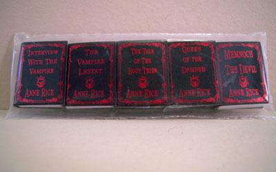 Non-Printed Five Piece Ann Rice Red Foil Books 1:12 scale