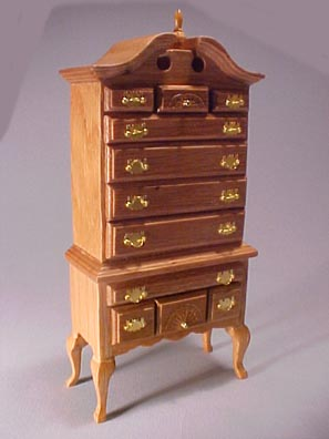 Townsquare Queen Anne Highboy 1:12 scale